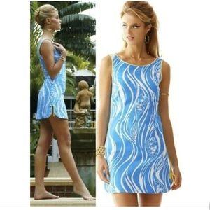Lilly Pulitzer Delia Resort White Blue Fish Dress